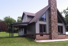 Vinyl Siding and Stone Veneer Option