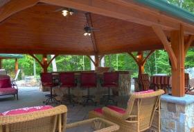 Outdoor living Area and Pavilion. Pavilion price range: $20,400 - $25,300