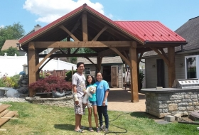 Pavilion with Reverse Gable and a Metal Roof. Price range: $12,500 - $15,700