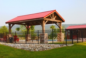 Pavilion with a Standard metal roof Price Range: $6500 - $8700