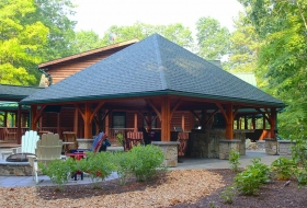 24 x 24 Pavilion with a Hip Roof. Price Range: $21,000 - $24,300