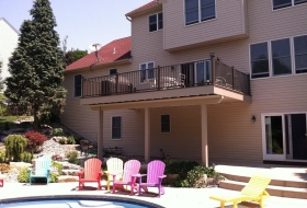 Two Story deck with Underdecking Price Range : $14,200 - $17,800