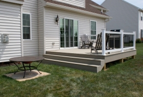 Vinyl deck and railing. Price range: $6500 - $7600