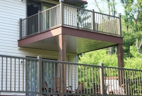 Second Story deck with Underdecking. Price range: $6700 - $7800