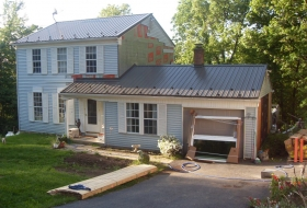 The house prepared for new siding